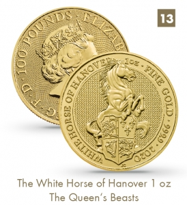 The White Horse of Hanover 1 oz - The Queen's Beasts